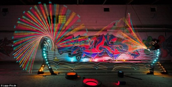 Exemplo criativo de Light painting