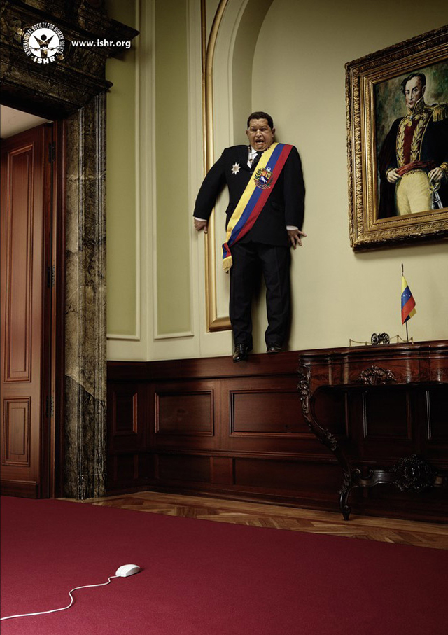 anuncios criativos com o ditador presidente venezuelano hugo chavez que bombaram na internet (1)