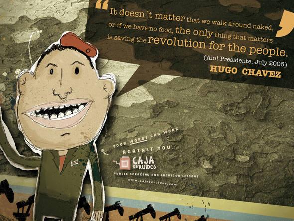 anuncios criativos com o ditador presidente venezuelano hugo chavez que bombaram na internet (10)