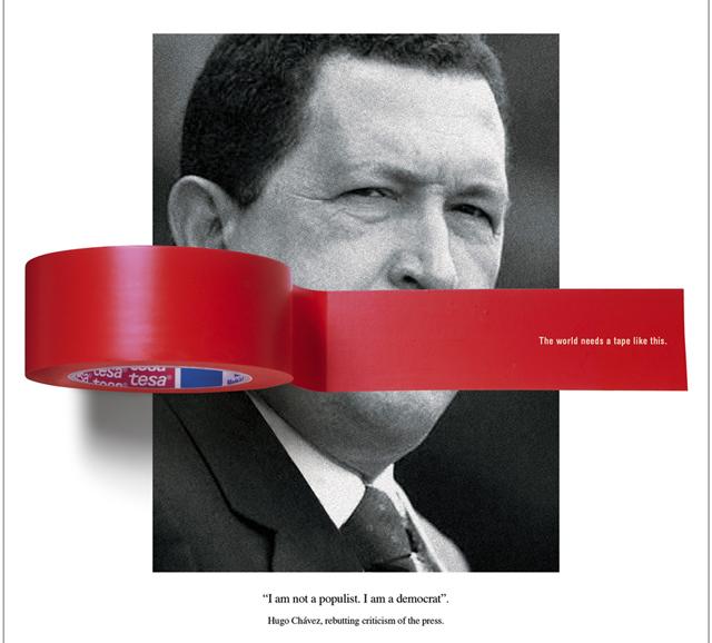 anuncios criativos com o ditador presidente venezuelano hugo chavez que bombaram na internet (5)