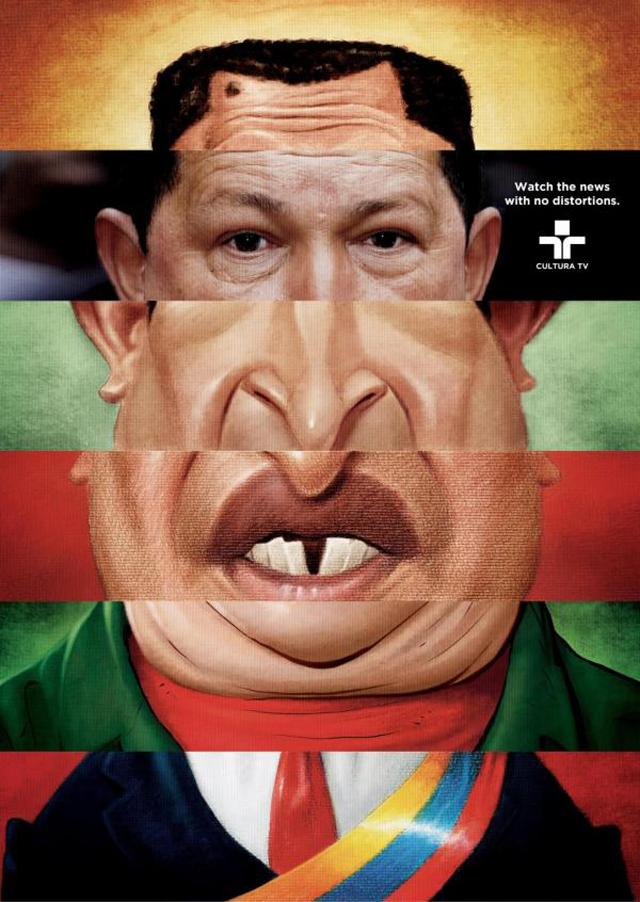 anuncios criativos com o ditador presidente venezuelano hugo chavez que bombaram na internet (9)