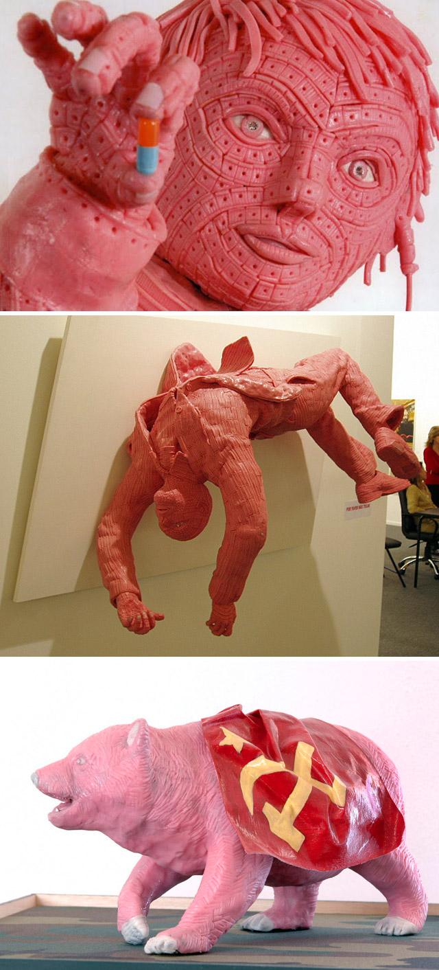 inscriveis esculturas artisticas com chicletes por Maurizio Savini (3)