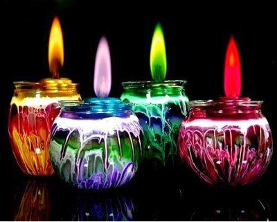 A vela simboliza a luz.