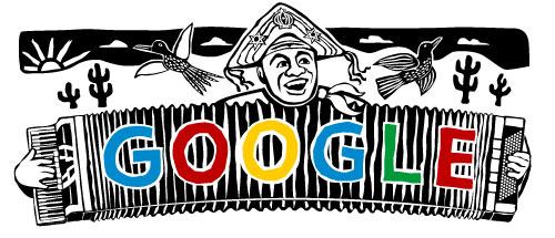 Doodle comemorativo de Aniversario de 100 anos de Luiz Gonzaga