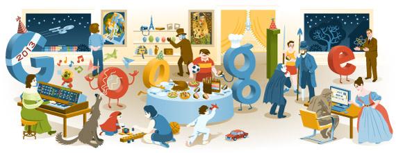Véspera de Ano Novo 2012 Doodle