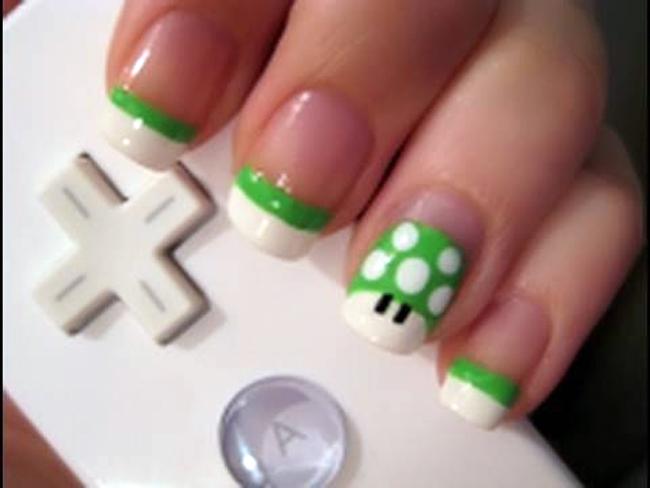 1 up Unhas criativas super mario bros creative nail art nintendo