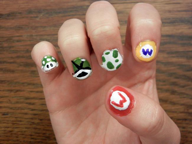 Unhas criativas super mario bros creative nail art nintendo