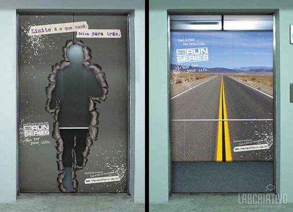 Incriveis Publicidades em Elevadores