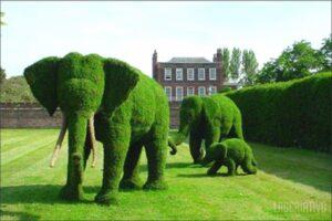 Escultura de um grupo de elefantes, surpreendente !!!