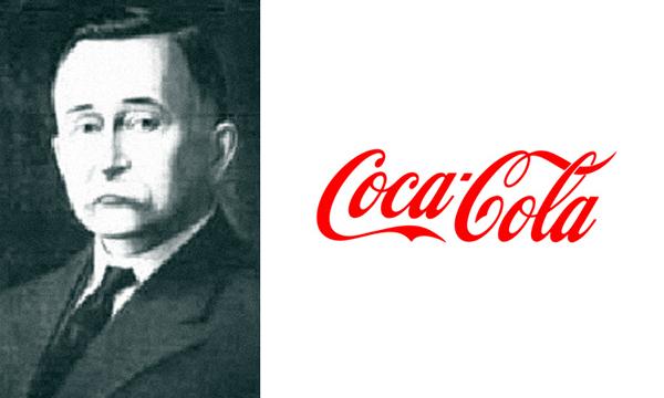Marca Coca-Cola  criada por Frank Mason Robinson