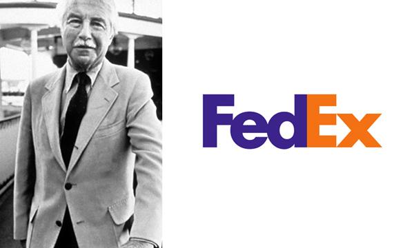 Marca FedEx  criada por Walter Landor
