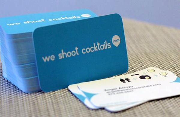 Inspire-se com lindos cartões de visitas azuis