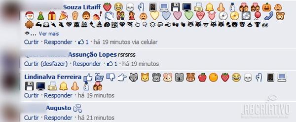 Novos Emoticons para Comentários do Facebook