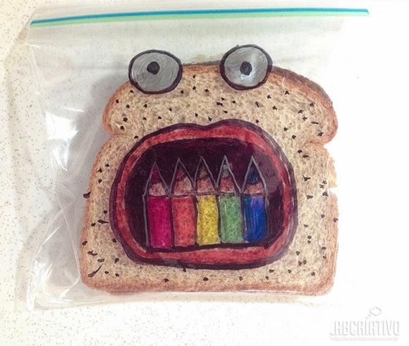 Sanduiche criativo...