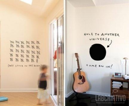 21 Tatuagens de parede criativas