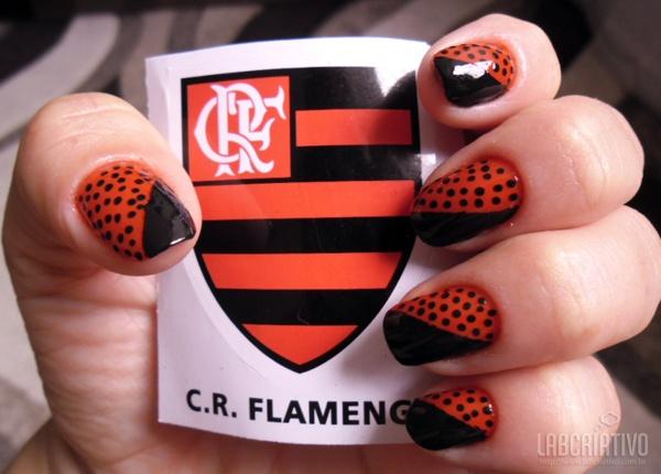 Unhas Criativas para Torcedoras de Futebol - Para Torcedoras do Flamengo