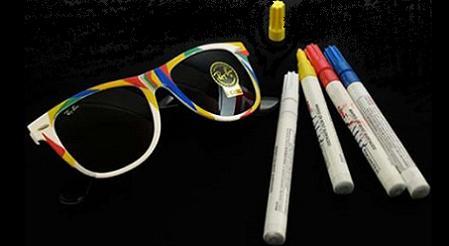 Óculos que você pode colorir ao seu estilo...