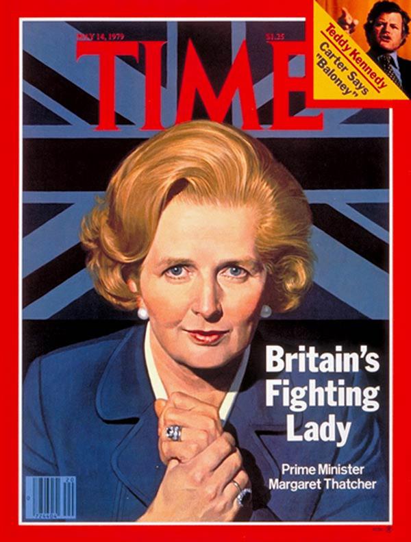 Margaret Thatcher, a Dama de Ferro que recentemente foi vivida no cinema por Maryl Streep.