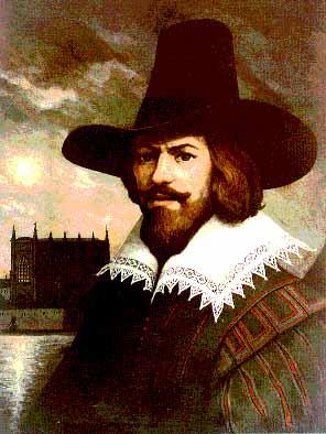 A máscara usada pelo personagem V é uma representação estilizada do rosto de Guy Fawkes.