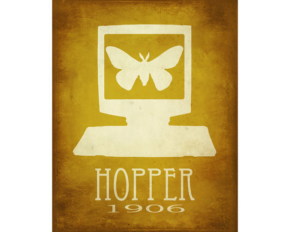 Grace Hopper - Computer Science Art, Steampunk Art Rock Star Scientist Wall Decor Office Art School Art Poster