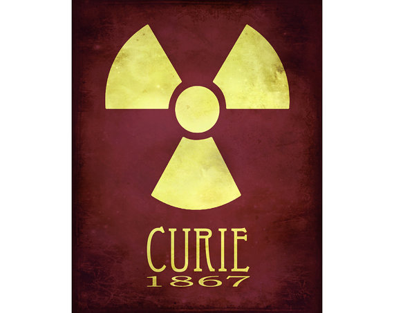 Marie Curie, Science Poster, Steampunk Art, Scientist Art Poster, Radiation Art, Radioactivity Wall Decor, School Art