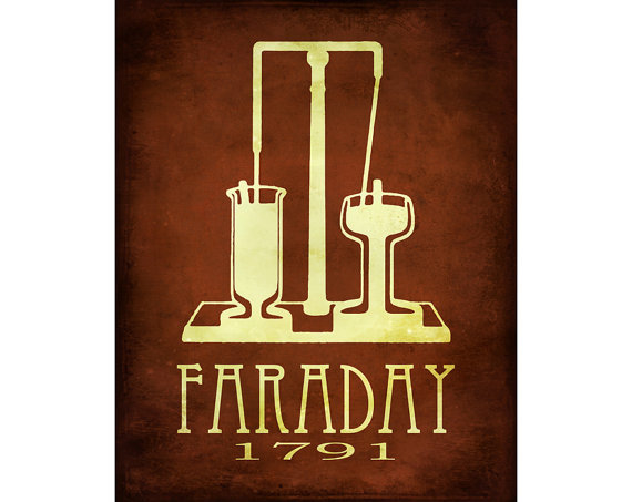 Michael Faraday Print Rock Star Scientist Technology Posters Magnetism Electricity Geek Chic Smart Dorm Decor