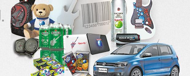 Inúmeros produtos licenciados