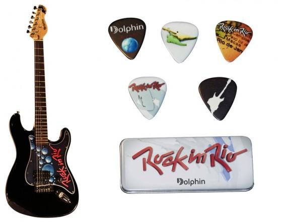 Kit guitarra...paleta e case by Rock in Rio