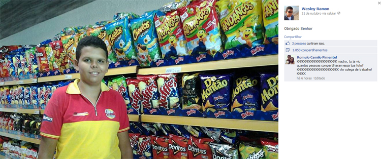 Wesley ostentador. O cara do Elma Chips
