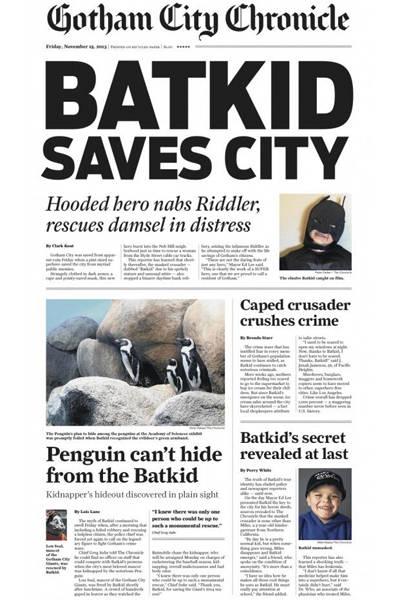 """O jornal local """"San Francisco Chronicle"""" criou uma edição especial para a ocasião"""