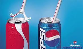 A eterna rivalidade entre a Pepsi e a Coca -cola, que nesse caso, dá a ideia que o canudo tem horror a Coca -Cola.
