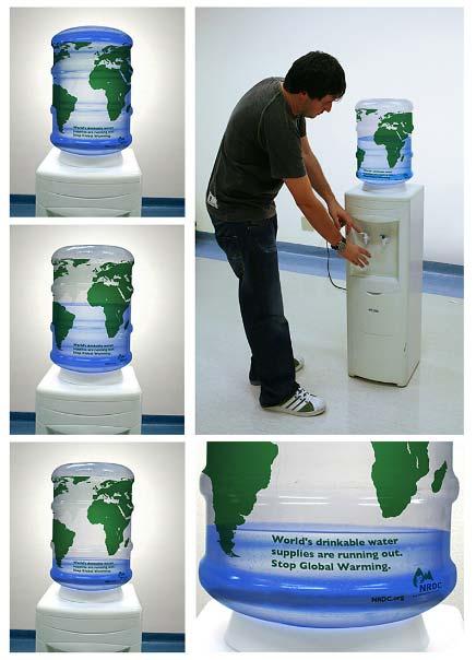 Uma bela forma de nos lembrar que o desperdício de água afeta a todo o mundo.