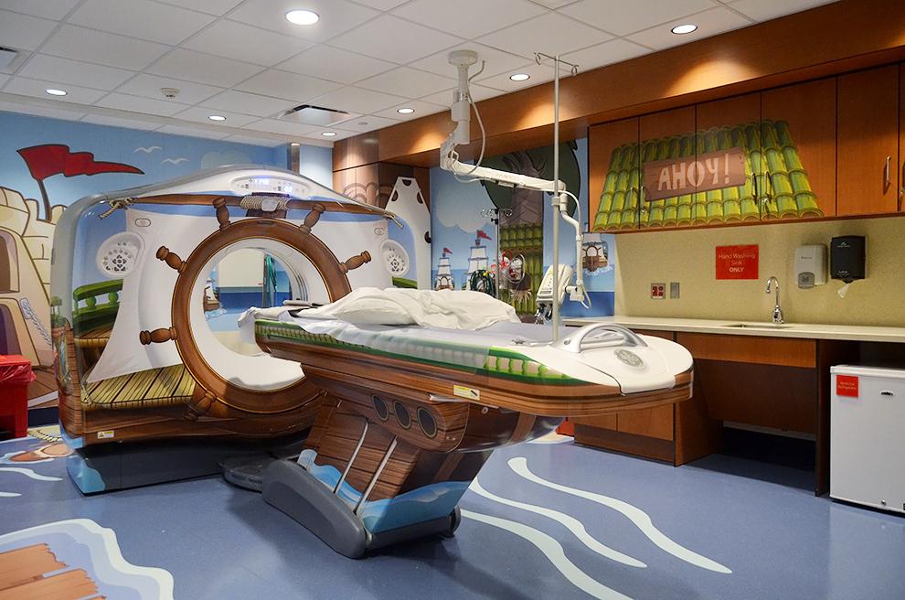 Hospital de Nova York um imenso navio pirata
