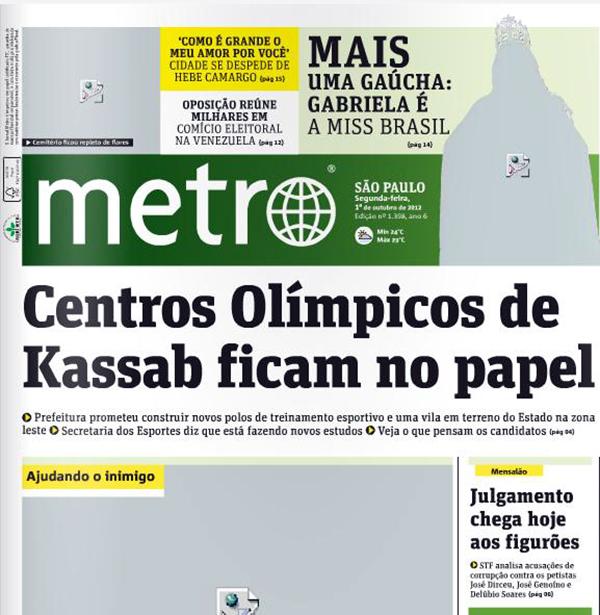 Ação Jornal Metro: valorização da imagem e participação do leitor