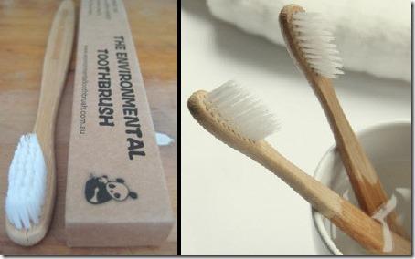 Escovas sustentáveis, feita de bambu. Biodegradável, para os que se preocupam com a natureza.