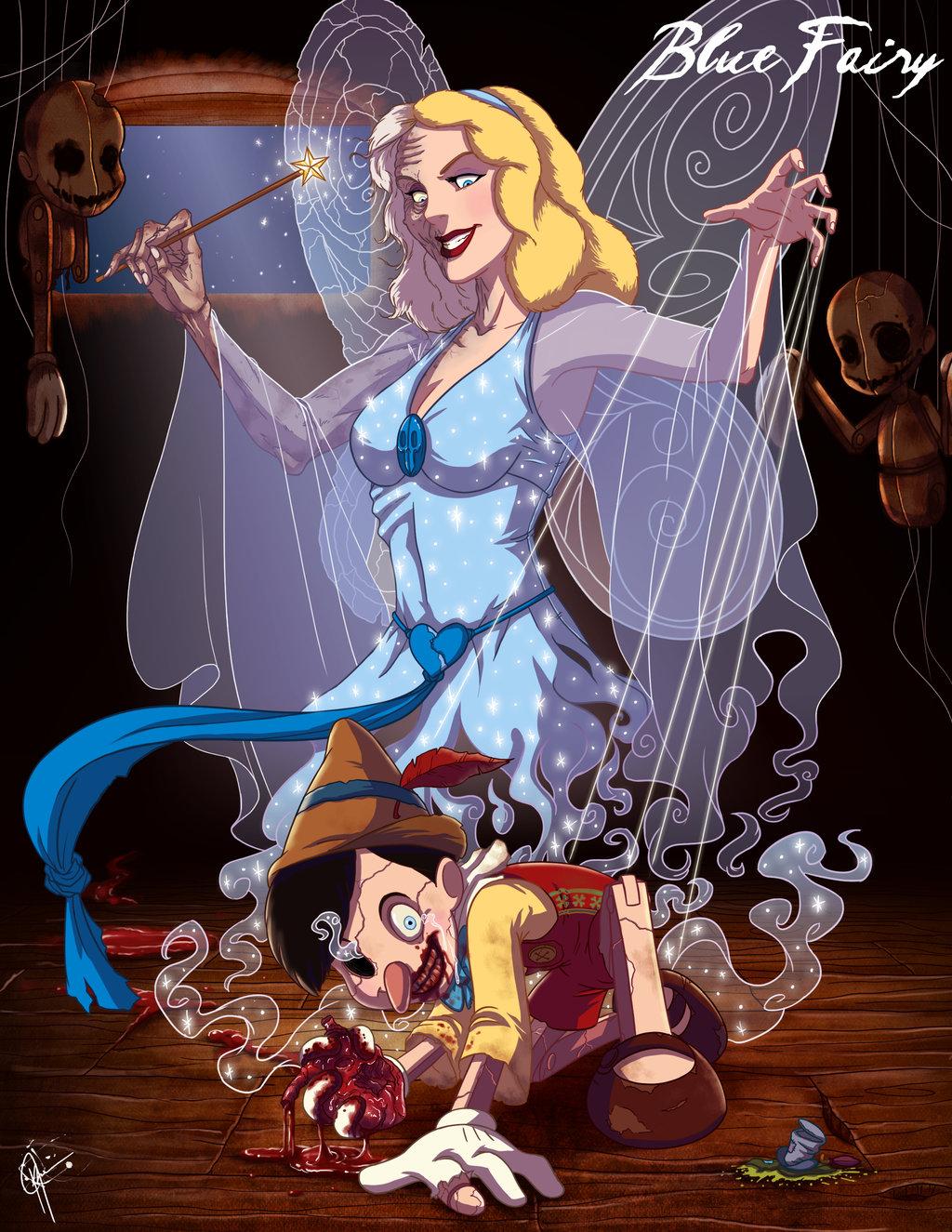 """Ilustrador Jeffrey Thomas  criou a série denominada """"Twisted Princess""""."""