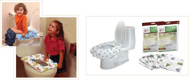 Protetor de vaso sanitário para crianças, ideal para levar nas viagens.