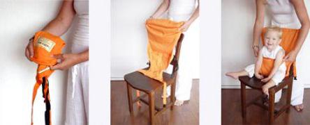 Cadeira de pano, na verdade é um suporte que reveste o encosto da cadeira, ideal em restaurantes.