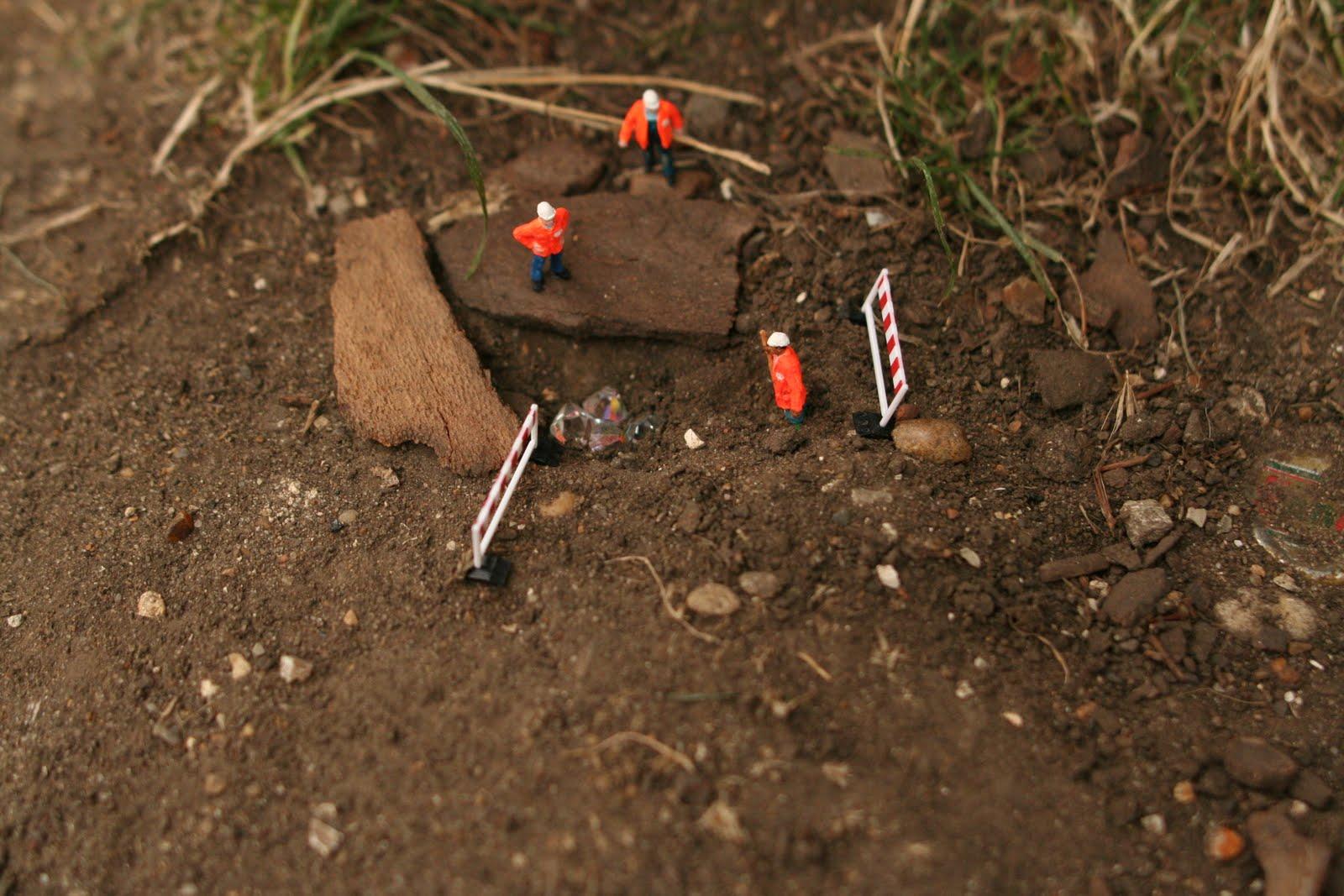 Miniaturas criativas por Slinkach