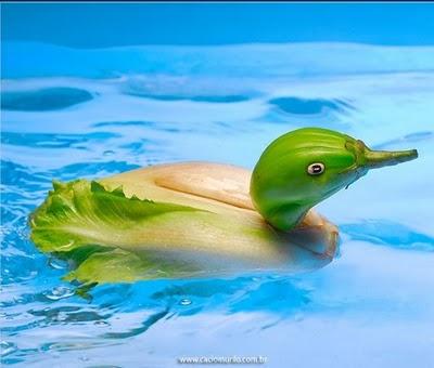 Animais feitos com frutas e legumes por Cacio Murilo