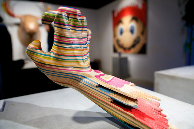 Sculptures from broken skateboards