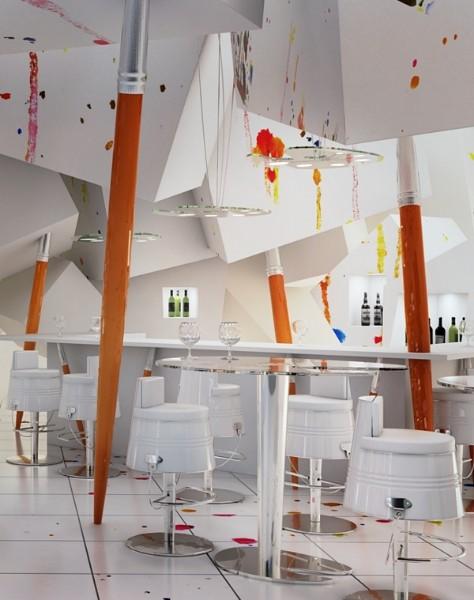 O projeto Pracownia,  remete a um atelier de pintura