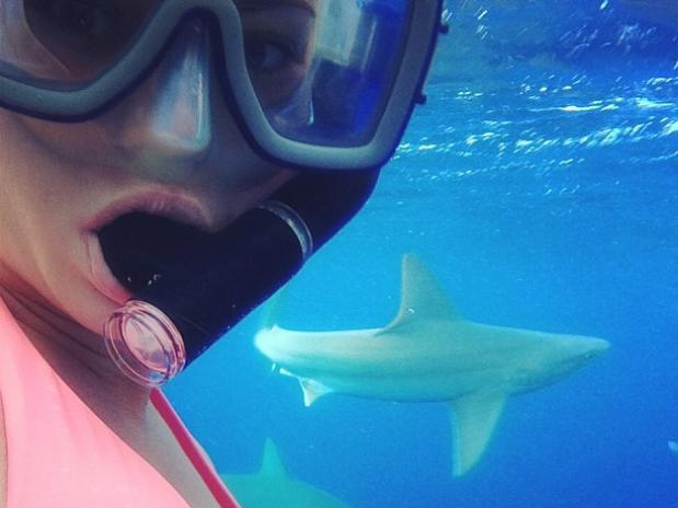 E quando o medo do tubarão fica em segundo plano ?