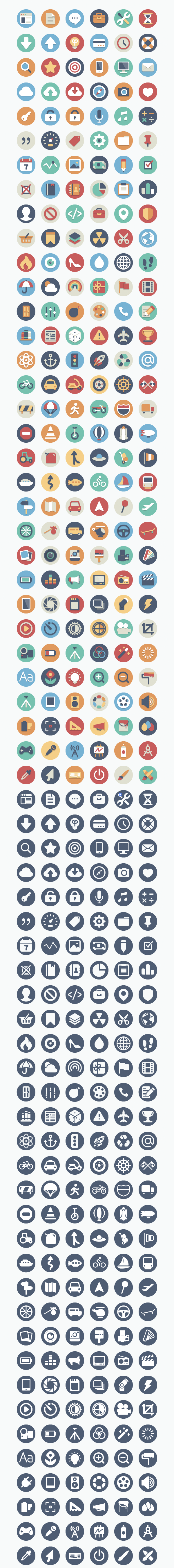 Lindos Flat Icons – Baixe gratuitamente mais de 300 ícones Flat