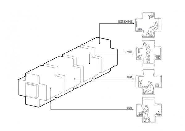 Casa modular baseada no jogo Tetris