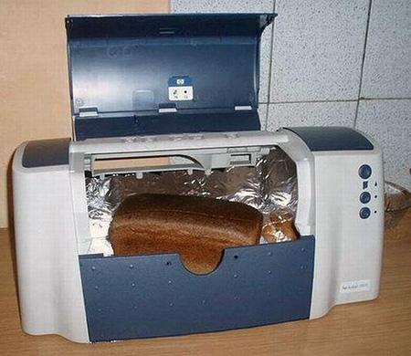 Aquele velho gabinete de impressora vira um guarda pão.