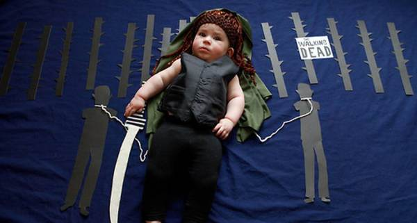 "Olivia, a baby Michonne, de ""Walking Dead"""