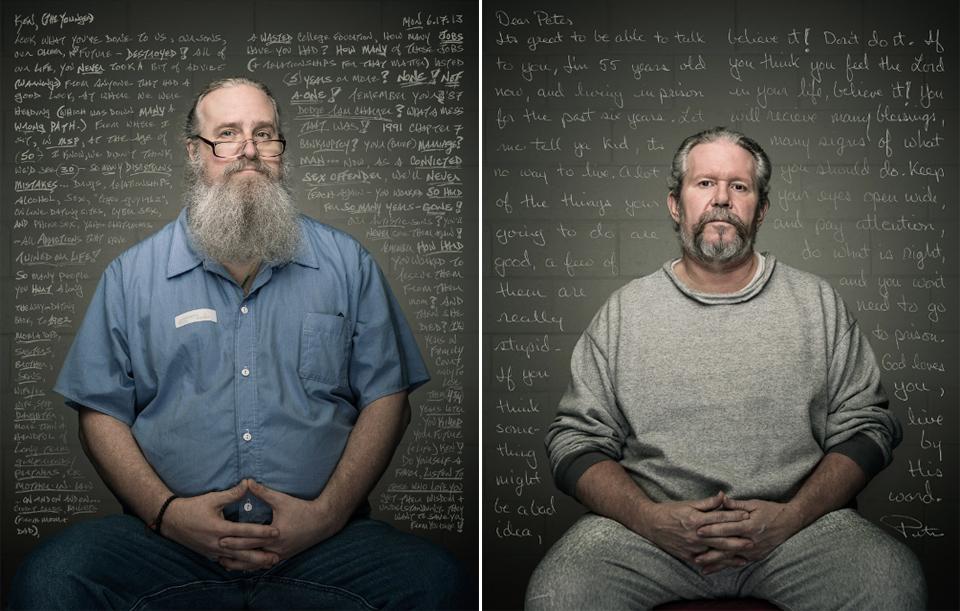 Fotos retratam presos e os conselhos que dariam a eles