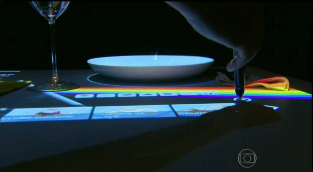 Mesa interativa, cardápio digital fica na própria mesa