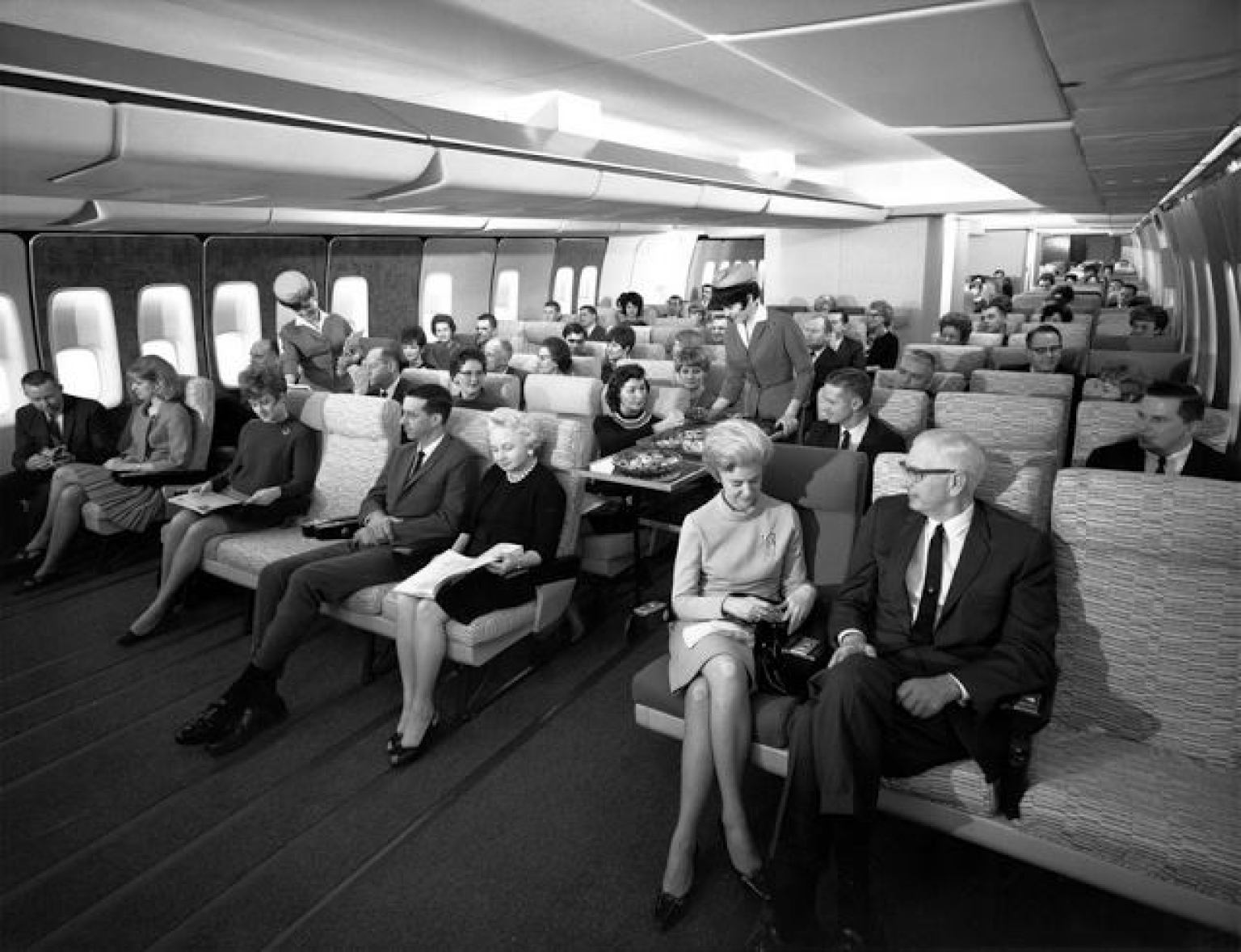 Incríveis Fotos mostram como era viajar de avião nos anos 50, 60 e 70